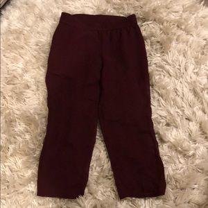 CLUB MONACO see through silk maroon pants